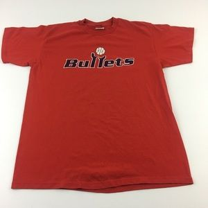Vintage Washington Bullets Tee 80s Made In USA M/L